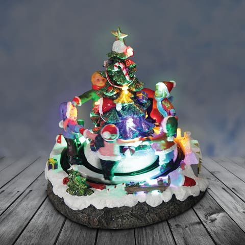 Christmas Tree with Animated Children - Automatic Timer