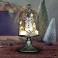 Snowman Dome on Pedestal with LED Timer