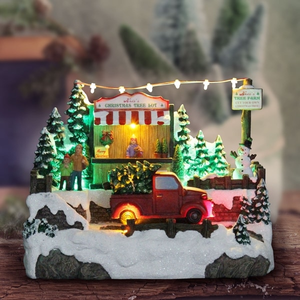 Automatic Christmas Tree: Shop Christmas Tree Lot With Animated Truck