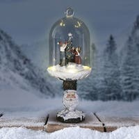 Christmas Tree Dome with Santa Pedestal and LED Timer