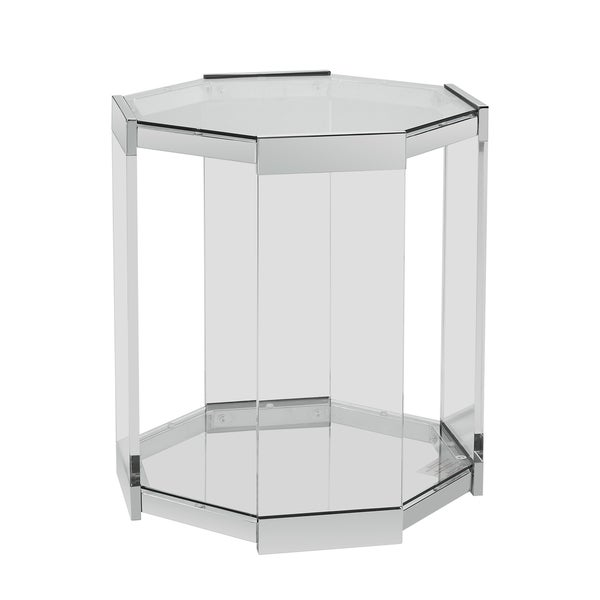 Mirrored Octagon Coffee Table: Shop Powell Brahm Mirrored Octagon Side Table