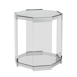 Powell Brahm Mirrored Octagon Side Table
