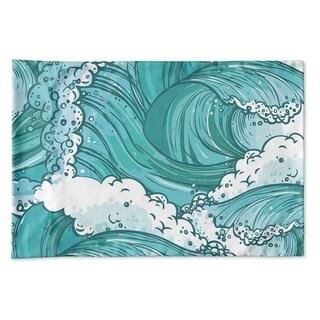 Kavka Designs Teal Wave Pillow Case By Terri Ellis