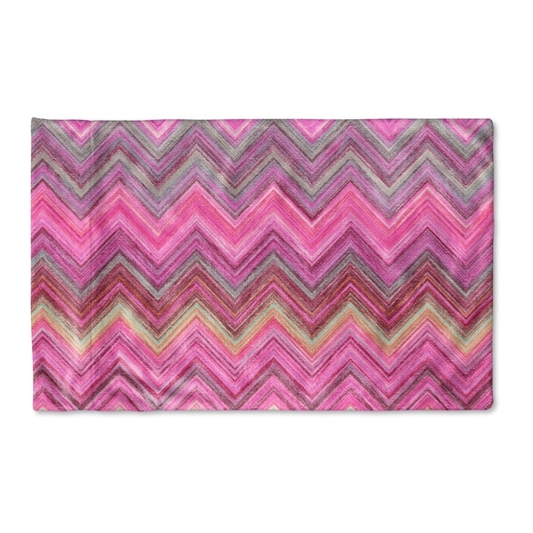 Kavka Designs Pink Chevron Pillow Case By Marina Gutierrez