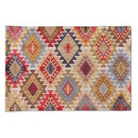 Kavka Designs Grey; Red; Yellow; Gold; Blue Pillow Case By Marina Gutierrez