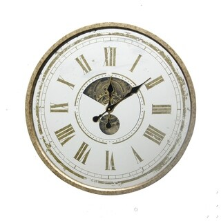 """24""""D MIRRORED CLOCK, Decorative Clock with mirrored face, Ready to Hang"""