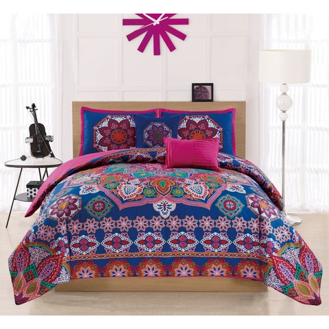 RT Designers Collection Harmony Embroidered 5-Piece Comforter Set
