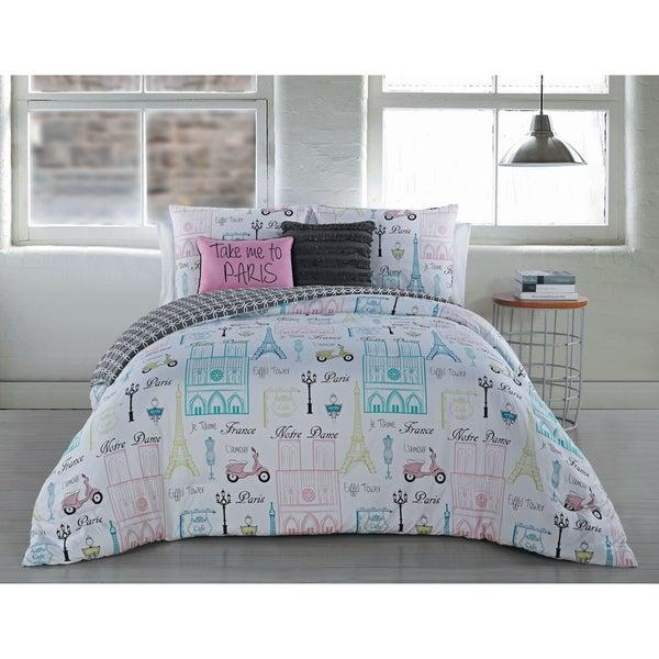 Avondale Manor Dominique 5-piece Paris Themed Comforter Set