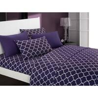 Chic Home Tymon 6 Piece Sheet Set Super Soft Geometric Pattern Print Deep Pocket Design - Includes Bonus Pillowcases
