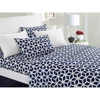 Chic Home Davitt 12 Piece Sheet Set Super Soft Geometric Pattern Print Deep Pocket Design - Includes Bonus Pillowcases