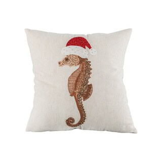 Pomeroy Santa Seahorse Pillow