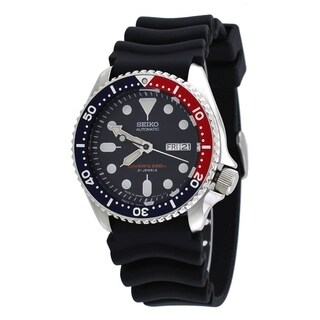 Seiko Men's SKX009J1 'Diver' Automatic Black Rubber Watch