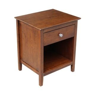 International Concepts Brown Wood 1-drawer Nightstand
