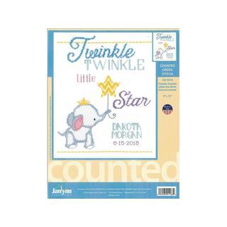 Janlynn Cross Stitch Kit Twinkle Twinkle Birth Ann