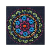 Bucilla Stamped Embroidery Kit Tribal Medallion