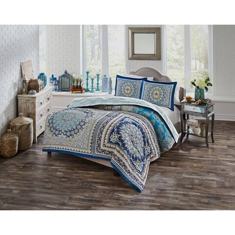 Boho Boutique Surya 3 Piece Reversible Comforter Set