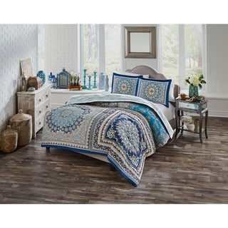 Boho Boutique Surya 3 Piece Reversible Comforter Set