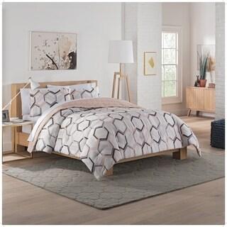 Vue Hexagonal 3-Piece Reversible Comforter Set