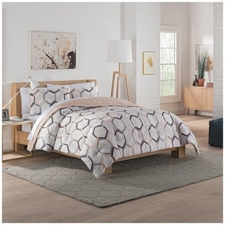 Vue Hexagonal 3-Piece Reversible Comforter Set
