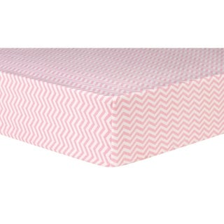 Trend Lab Pink Chevron Deluxe Flannel Fitted Crib Sheet