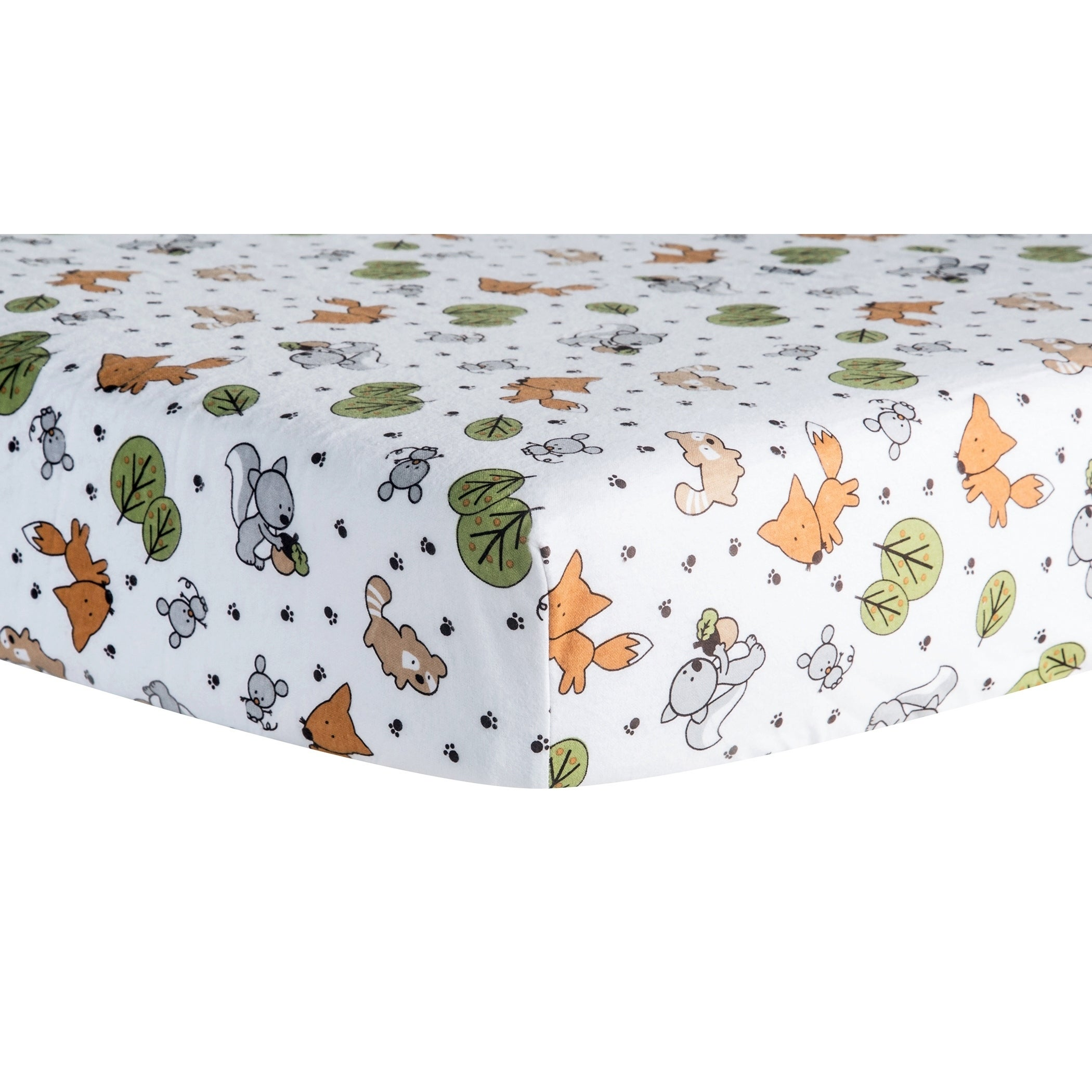 Trend Lab Friendly Forest Deluxe Flannel Fitted Crib Shee...