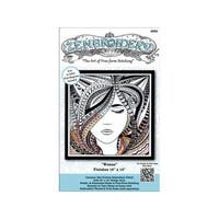 Design Works Zenbroidery Fabric 10x10 Woman