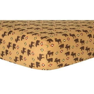 Trend Lab Northwoods Animals Deluxe Flannel Fitted Crib Sheet