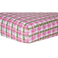 Trend Lab Pink Plaid Deluxe Flannel Fitted Crib Sheet