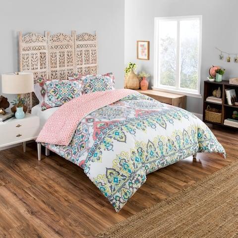 Boho Boutique Rozella 3 Piece Reversible Comforter Set