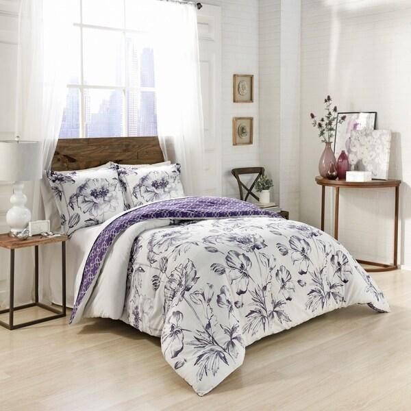 Marble Hill Jasmeen Reversible 3-Piece Comforter Set