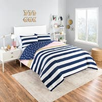 Vue Glam Stripe 3-Piece Reversible Comforter Set