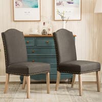 Mod Urban Solid Wood Upholstered Parson Chairs (Set of 2) (As Is Item)