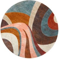 Home Dynamix Tribeca Multi Curves Round Area Rug - 7'10""