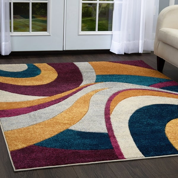 "Home Dynamix Tribeca Multi-colored Curves (18.9""x31.5"") Scatter"