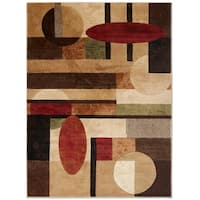 """Home Dynamix Tribeca Multi-colored  Abstract Area Rug (9'2"""" X 12'5"""")"""