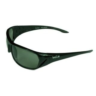 Bolle Sport Mens Blacktail 12085 Shiny Black w/ Modulator Polarized Grey Lens Sunglasses