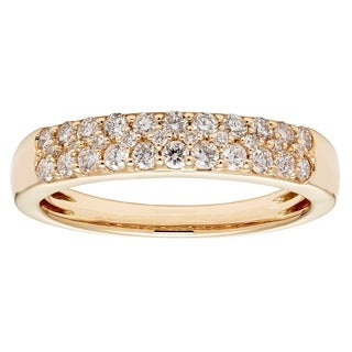Sofia 14k Yellow Gold 1/2ct TDW Certified Diamond Wedding Band