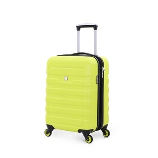 SwissGear Yellow 19- inch Carry On Hardside Spinner Suitcase