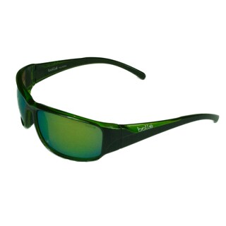 Bolle Sport Mens Keelback 11904 Shiny Black/Green Translucent w/ Polarized Brown Emerald Oleo AF Lens Sunglasses