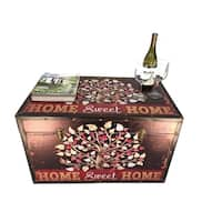 Sweet Home Large Wood Storage Trunk Wooden Treasure Chest