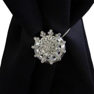 Crystal Snowflake Magnetic Holdback Set of 2