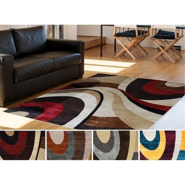 Home Dynamix Tribeca Multi-colored Curves Area Rug (7'10 x 10'6)