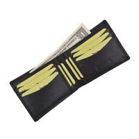 Cavelio Genuine High Quality Leather Mens Bifold Wallet with Removable ID Card Holder