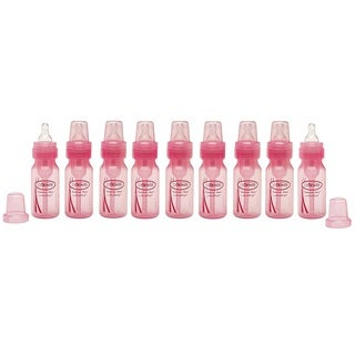 Dr. Brown's Baby Bottle - 4 Ounce - Pink - 9 Count