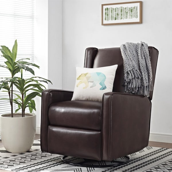 Avenue Greene Beverly Dark Swivel Gliding Recliner
