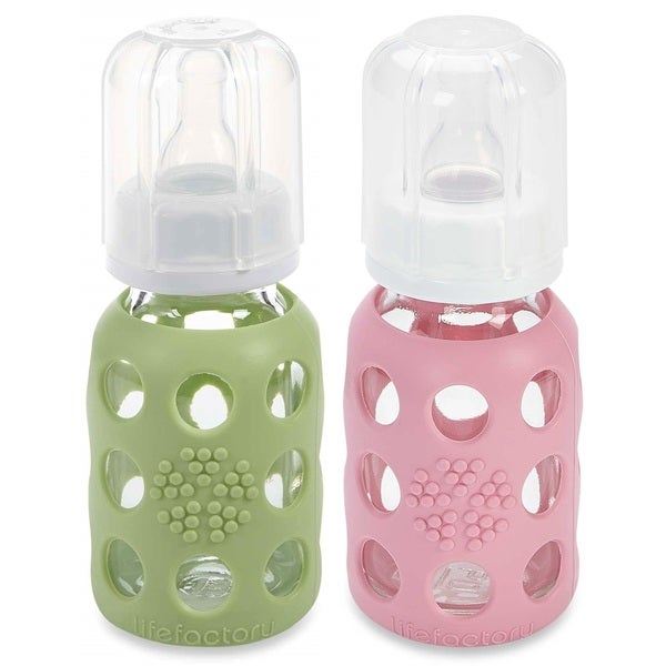 Baby Bottles Set Of Lifefactory Glass Bottles And Accessories Feeding