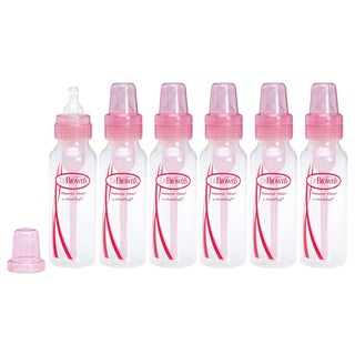 Dr. Brown's BPA Free Baby Bottles - 8 Ounce - Pink - 6 Count