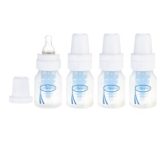 Dr. Brown's Natural Flow Feeding Polypropylene Bottle - 2 Ounce - 4 Pack