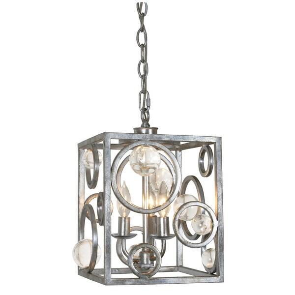 Van Teal .999 Silver Acrylic/Metal Chandelier