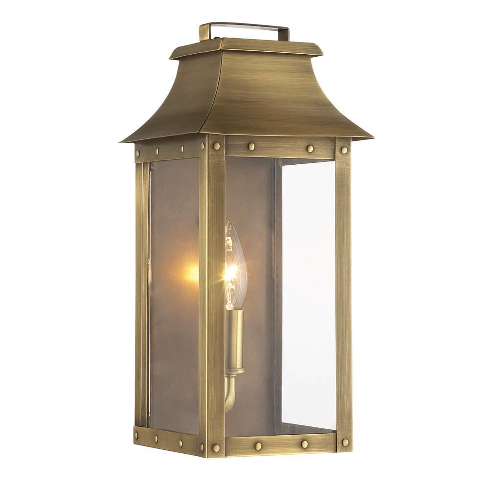 Acclaim Lighting Manchester 1 Light Outdoor Aged Brass Light Fixture